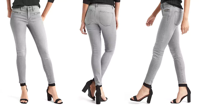 Gap Mid Rise Zip Pocket True Skinny Ankle Jeans $29 (reg $80)