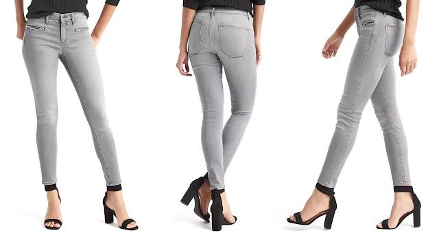 Gap Mid Rise Zip Pocket True Skinny Ankle Jeans $29 (reg $80)