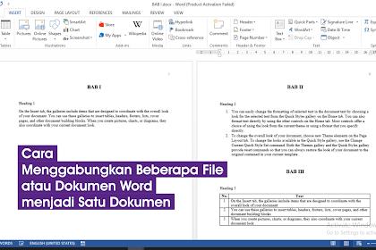 Cara Menggabungkan Beberapa File atau Dokumen Word menjadi Satu Dokumen