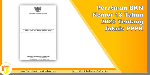 Peraturan BKN Nomor 18 Tahun 2020 Tentang Juknis PPPK