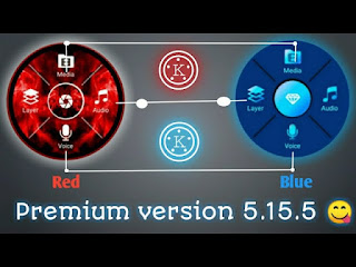 Red and blue premium kinemaster