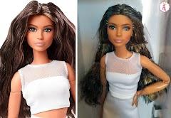 Распаковка латиноамериканки Barbie Looks 2021: кукла в белом наряде