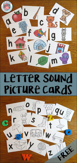 These free letter/ sound picture cards are designed for introducing letters and sounds using a multi-sensory approach.