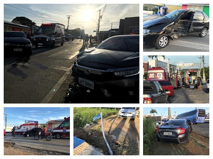 Colisão entre carros é registrada em Cajazeiras e dos envolvidos é um promotor de justiça