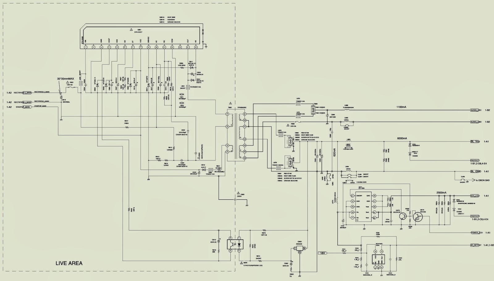 electro help: toshiba 32hl95 - lcd tv - power supply [smps ... labeled diagram of a generator circuit board labeled diagram of a toshiba tv #7