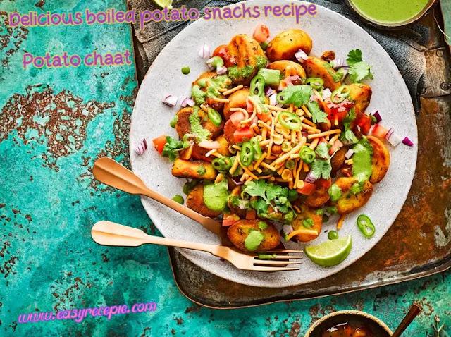 Delicious boiled potato snacks recipe - Easiest Potato Chaat Recipe