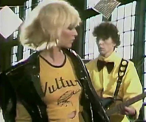 Blondie Atomic bin liner and Vulture T-shirt