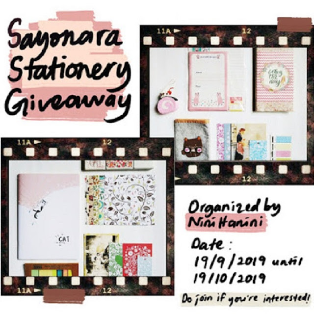Syonara Stationery Giveaway by NiniHanini