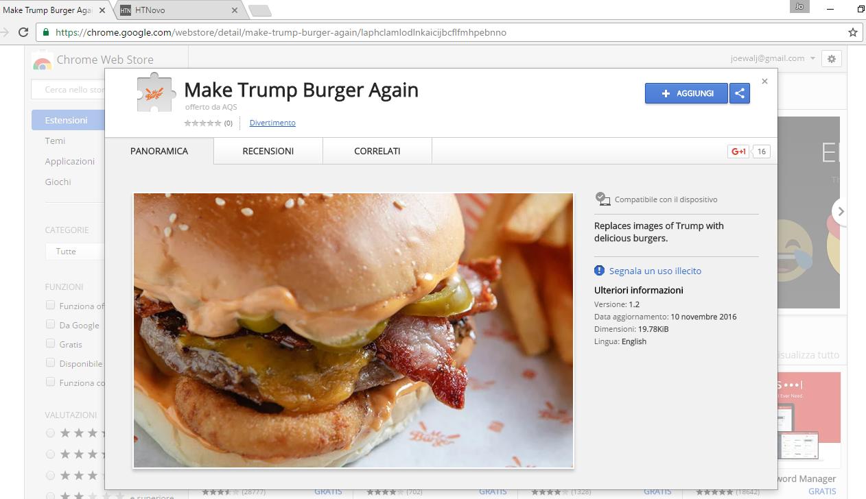 Con un'estensione di Chrome ti liberi di Donald Trump (almeno sul Web) HTNovo 2