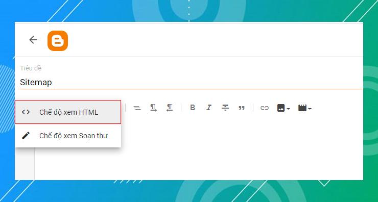 chuyển qua Chế độ xem HTML
