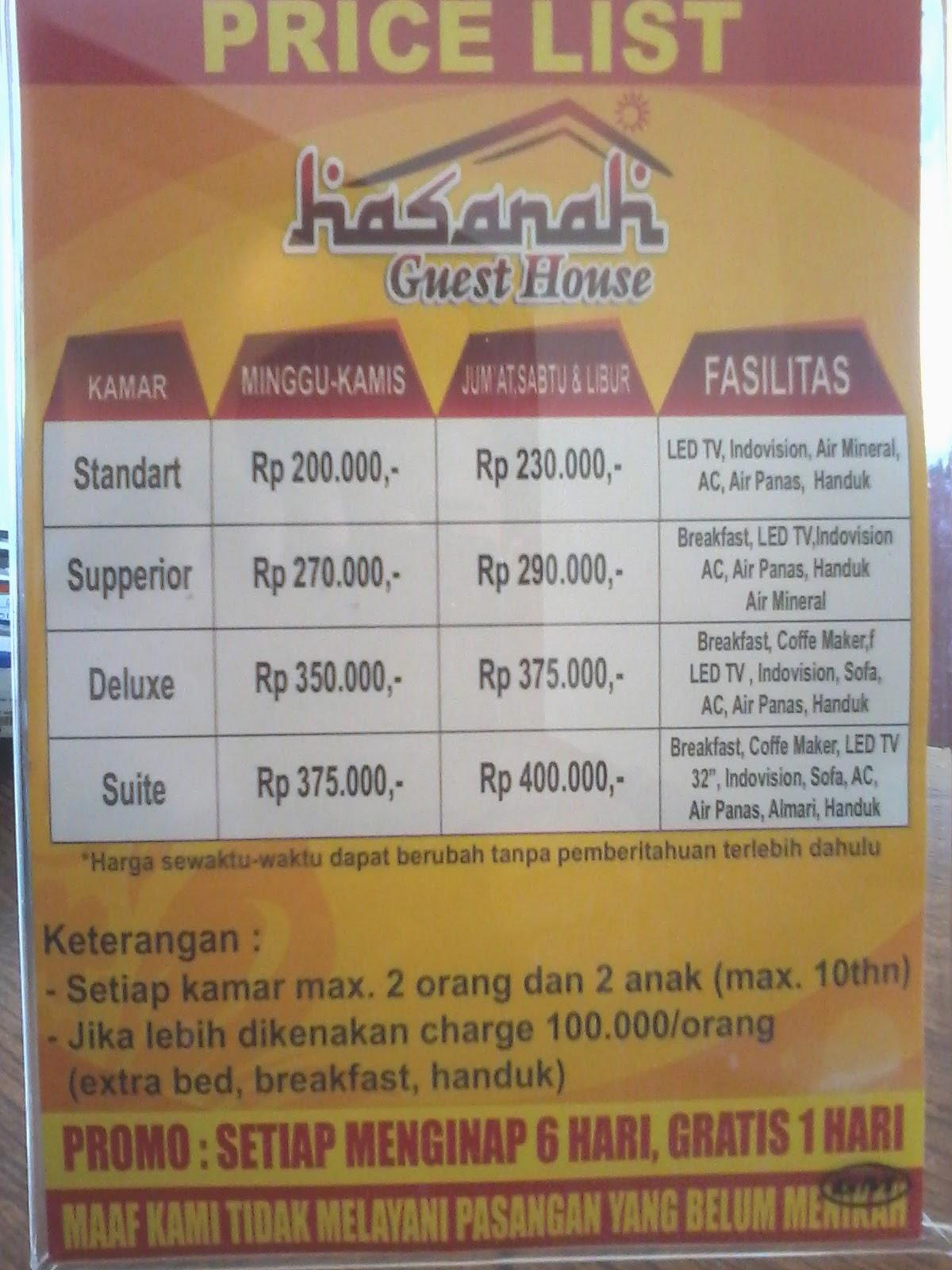Guest House Malang Hasanah Guest House Penginapan Malang 2014