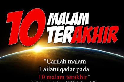 Doa 10 Malam Terakhir Ramadhan