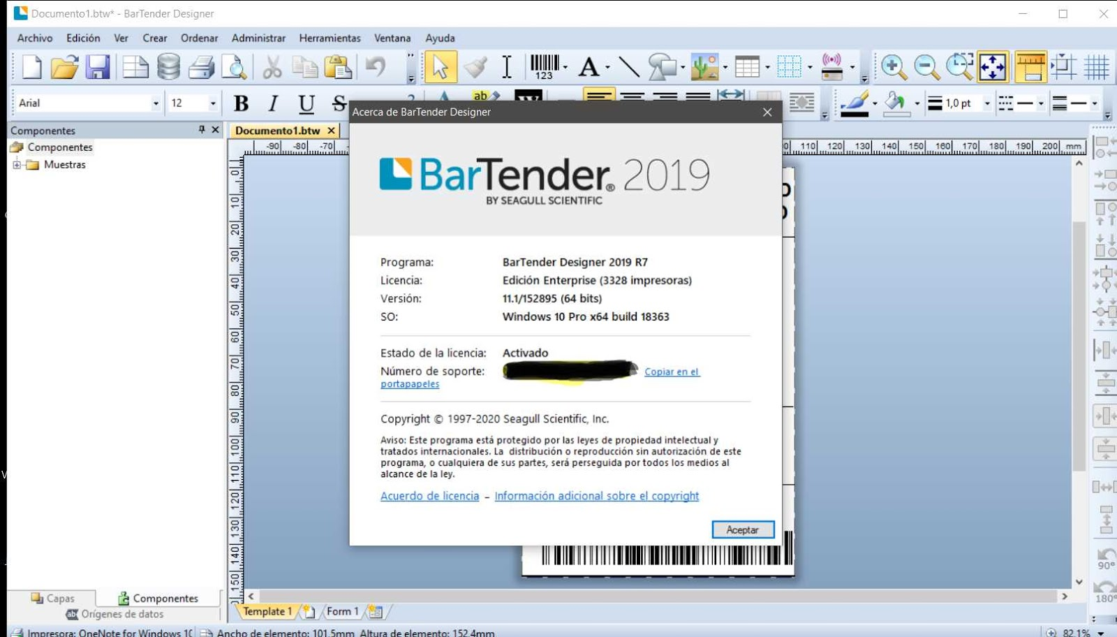 BarTender Enterprise 2019 R7 11.1.152895