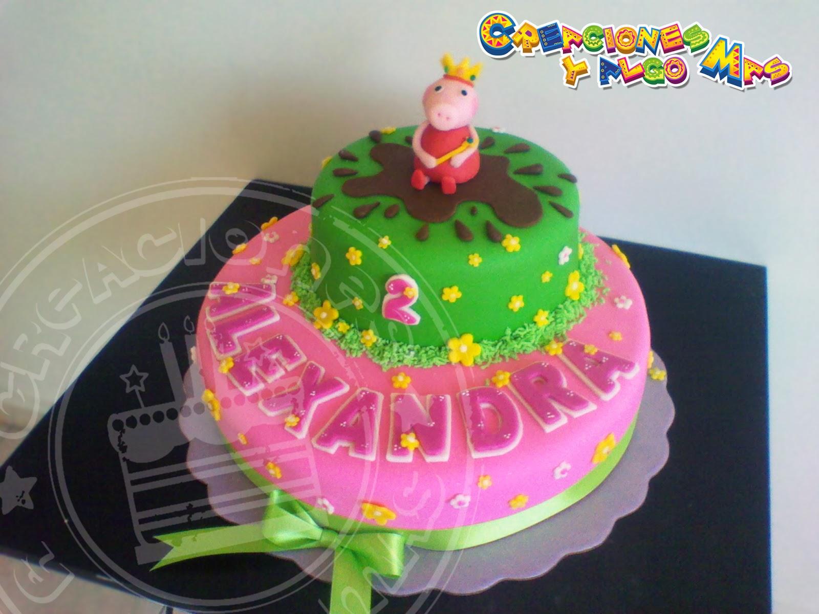 TORTA PEPPA PIG PEPPA PIG CAKE Creaciones y Algo Mas