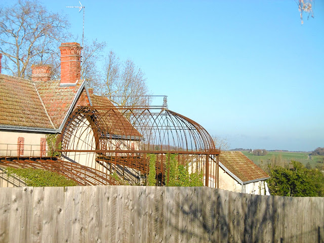 Remains of an Eiffel greenhouse, Indre et Loire, France. Photo by Loire Valley Time Travel.