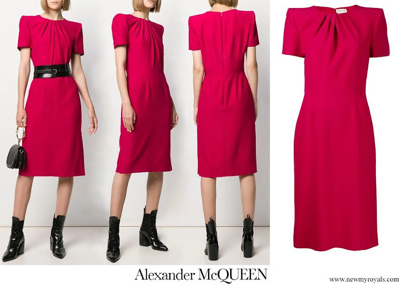 Kate Middleton wore a new midi pencil dress from Alexander McQueen