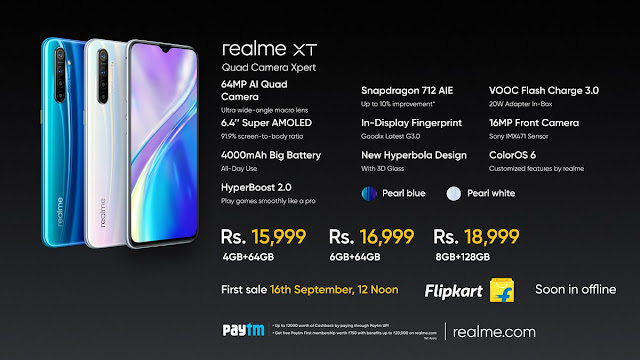 Realme XT launched with 64MP quad-camera, starting Rs. 15, 999