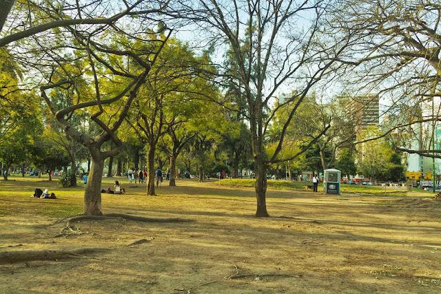 Paisaje del parque Las Heras.