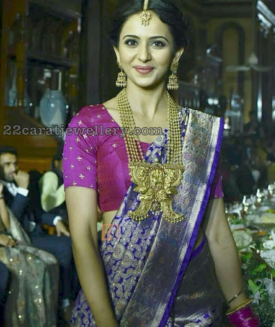 Rakul Preet Singh in Temple Jewellery