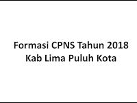 Formasi Resmi CPNS 2018 Kab Lima Puluh Kota - Sumatera Barat