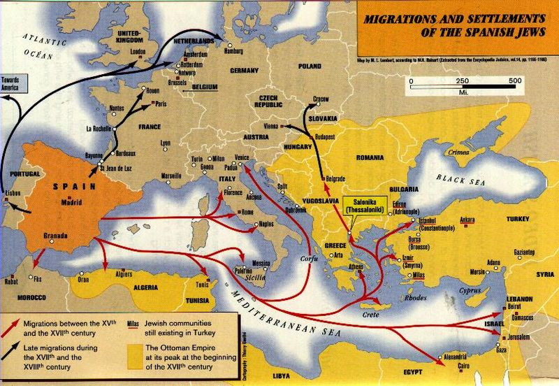 Jews migration map