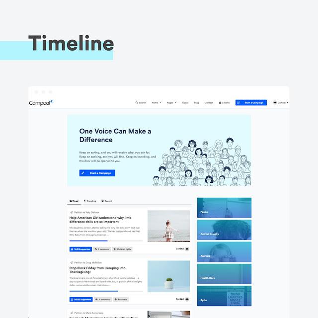 Create Petition WordPress Theme