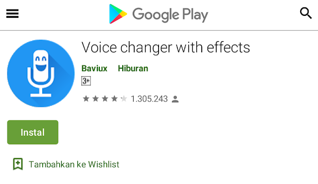 ubah voice chat whatsapp ke suara lucu mirip alien