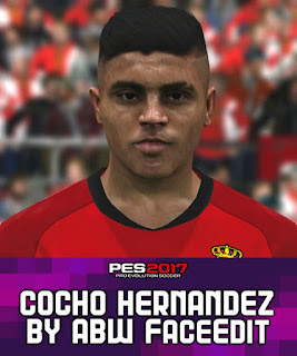 PES 2017 Faces Cocho Hernandez by ABW_FaceEdit