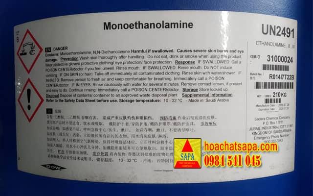Monoethanolamine - dung môi m.e.a