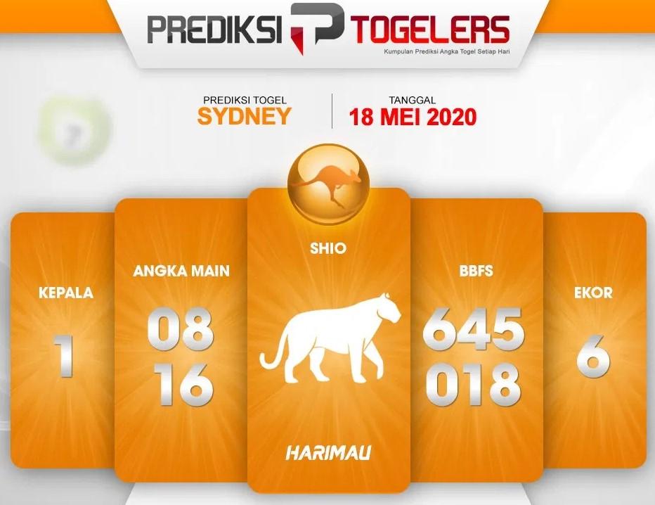 Prediksi Togel Sydney Senin 18 Mei 2020 - Prediksi Togellers