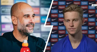 Barcelona midfielder De Jong reveals Guardiola called to him to wish well despite City losing transfer battle in 2019