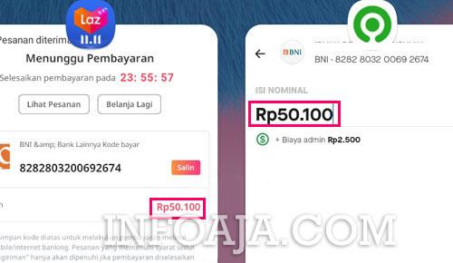pembayaran lazada menggunakan Gopay