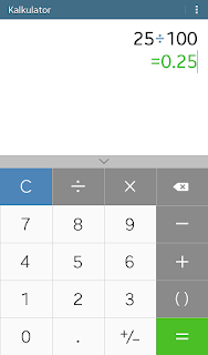 cara menghitung persen di kalkulator hp android