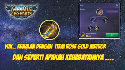 Item Rose Gold Meteor Mobile Legends: Bang Bang