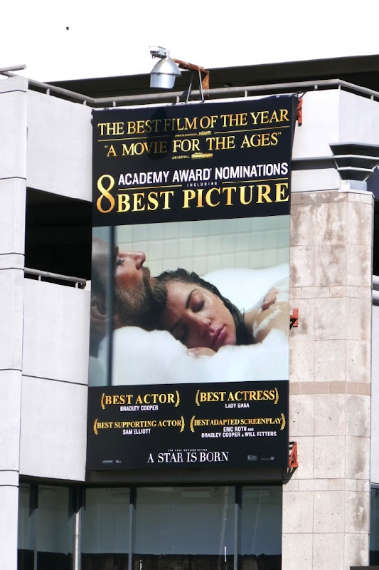A Star is Born Academy Award billboard