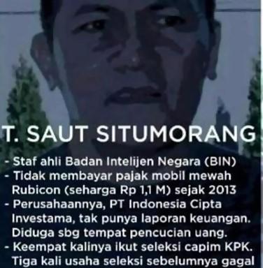 Sebut HMI Pencetak Koruptor, Meme Saut Situmorang Tak Bayar Pajak Beredar di Sosial Media.