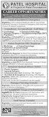 Jobs In Patel Hospital Karachi