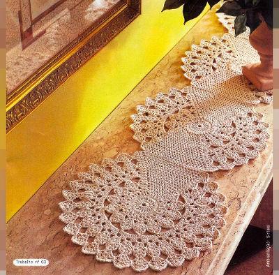 Caminho de Mesa Crochê Gráfico