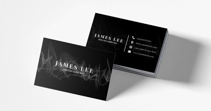 free download elegant business card template psd