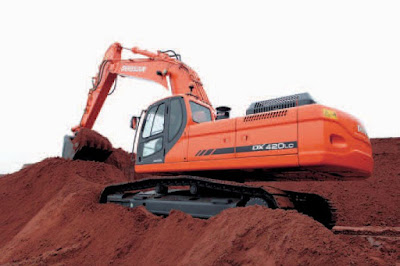 Doosan track Excavator DX420LC shop manual 5001 and up
