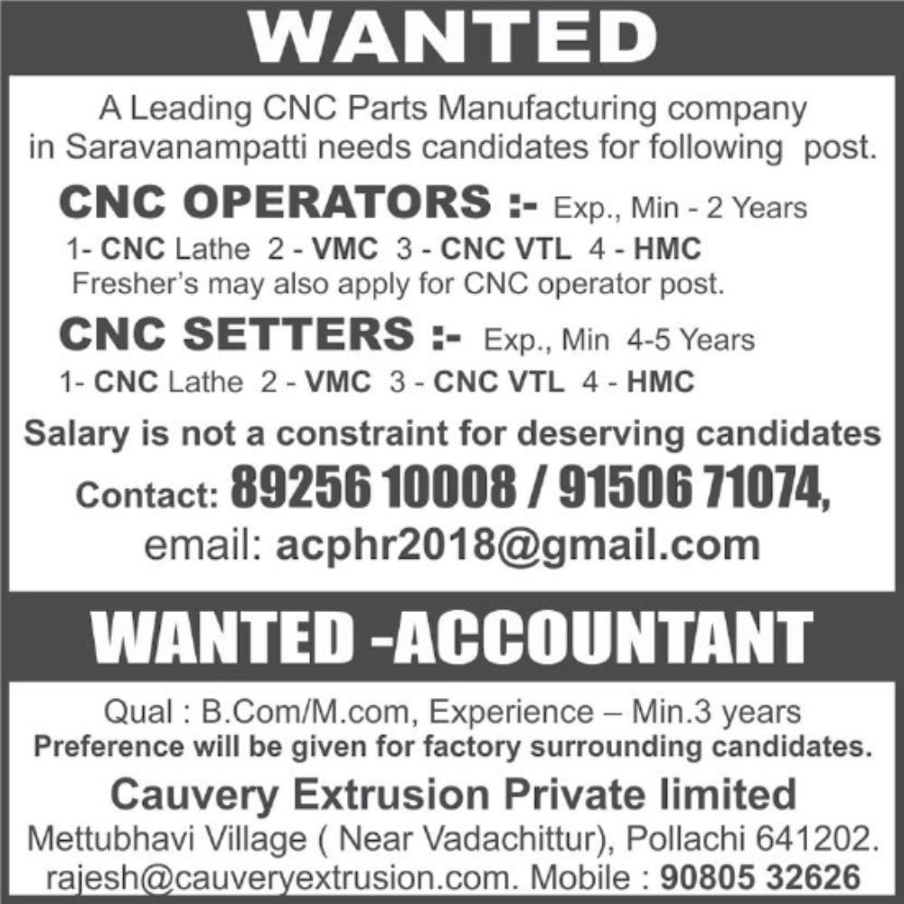 Cnc Operators Salary Salary For Machinist What Does A Machinist Do