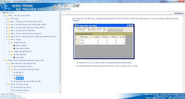 MBook giáo trình SQL Server của trường ĐH Khoa Học Tự Nhiên