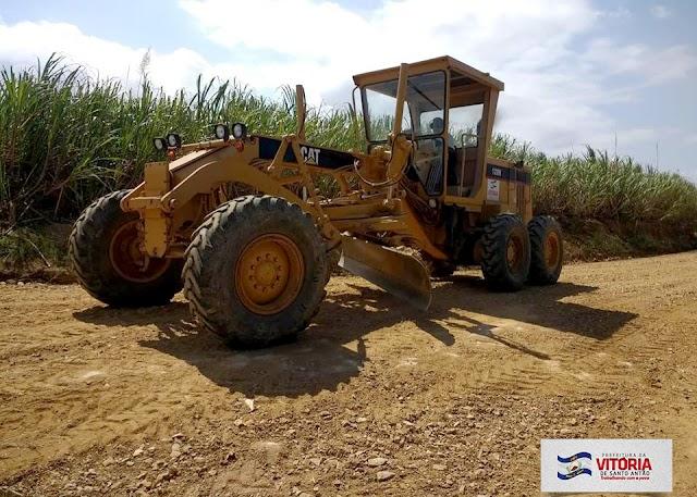 Prefeitura da Vitória realiza melhorias na estrada do Engenho Pitú
