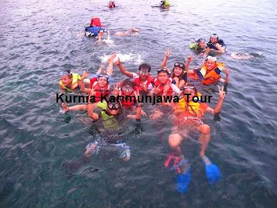 situasi snorkelingan karimunjawa