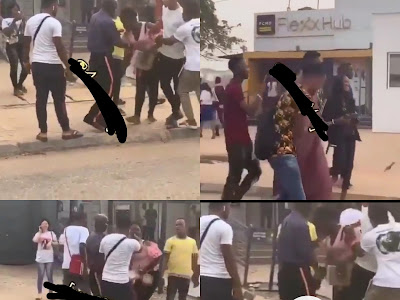 Lady Blasts A Guy On The Road For Telling People After Making Love With Her. VIDEO