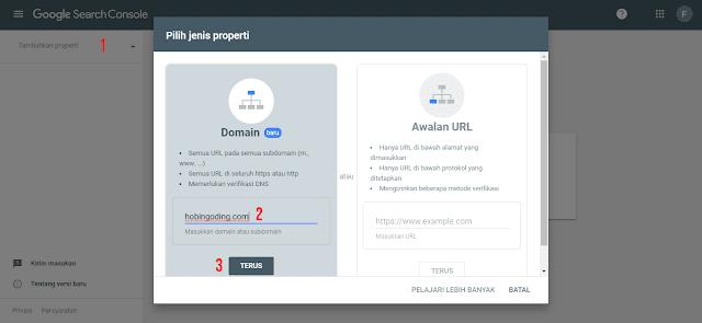 Cara Submit Domain ke Google Webmaster Tools