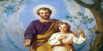 imagem de São José e do Menino Jesus