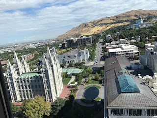 Temple Square and Capitol Hill as seen from Zions Bank Building