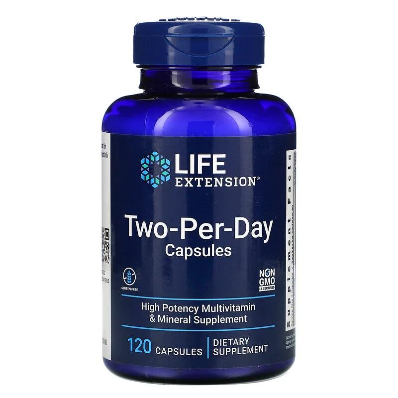Life Extension, капсулы для приема дважды в день, 120 капсул