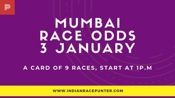 Mumbai Race Odds 3 January